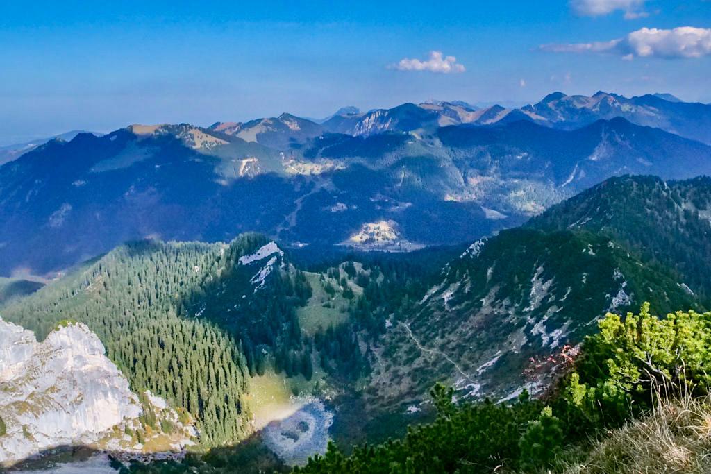 Risserkogel Gipfel - Ausblick über Riederecksee & grandiose Bergwelten - Tegernsee, Bayern