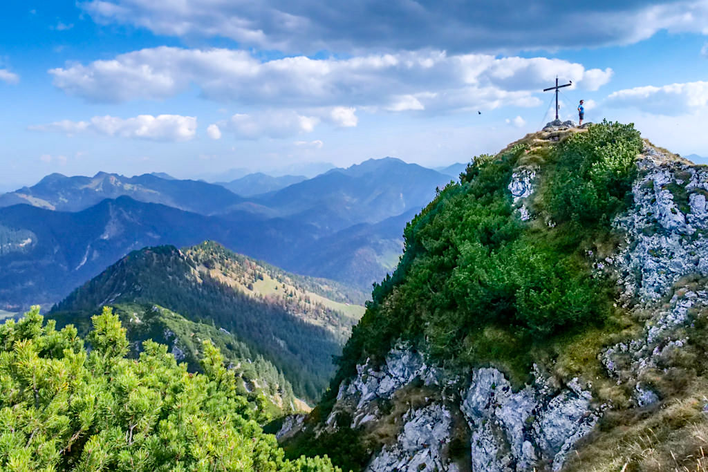 Risserkogel Gipfelstock bietet grandiose Ausblicke - Tegernsee, Bayern