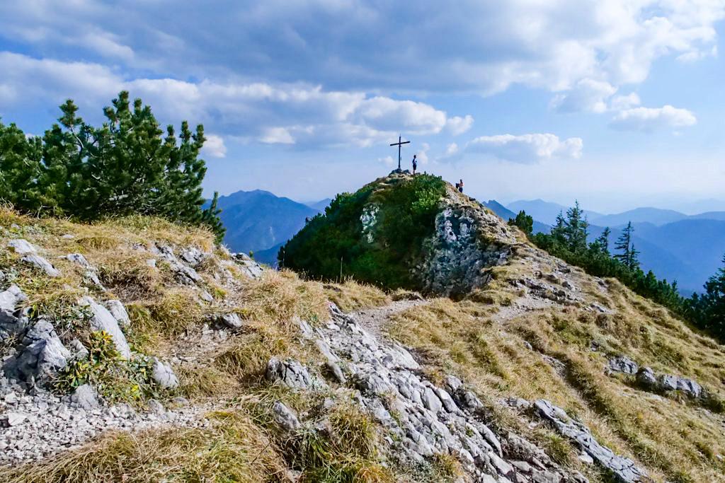 Risserkogel Wanderung - kurz vor dem Gipfel - Tegernsee, Bayern
