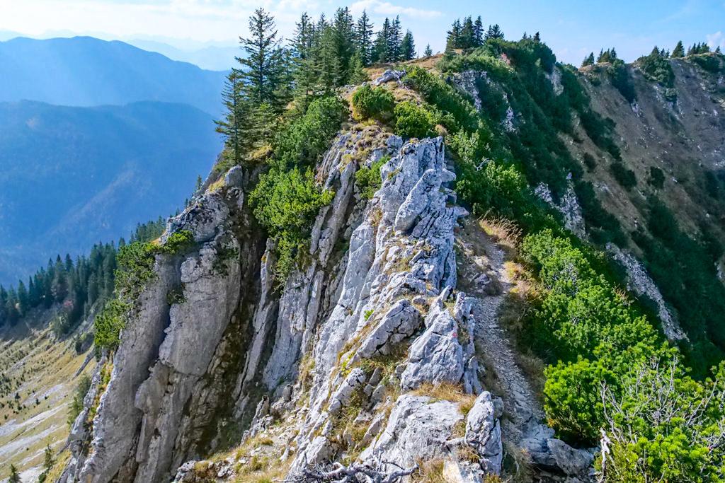 Risserkogel Wanderung über den spektakulären Westgrat - Tegernsee, Bayern