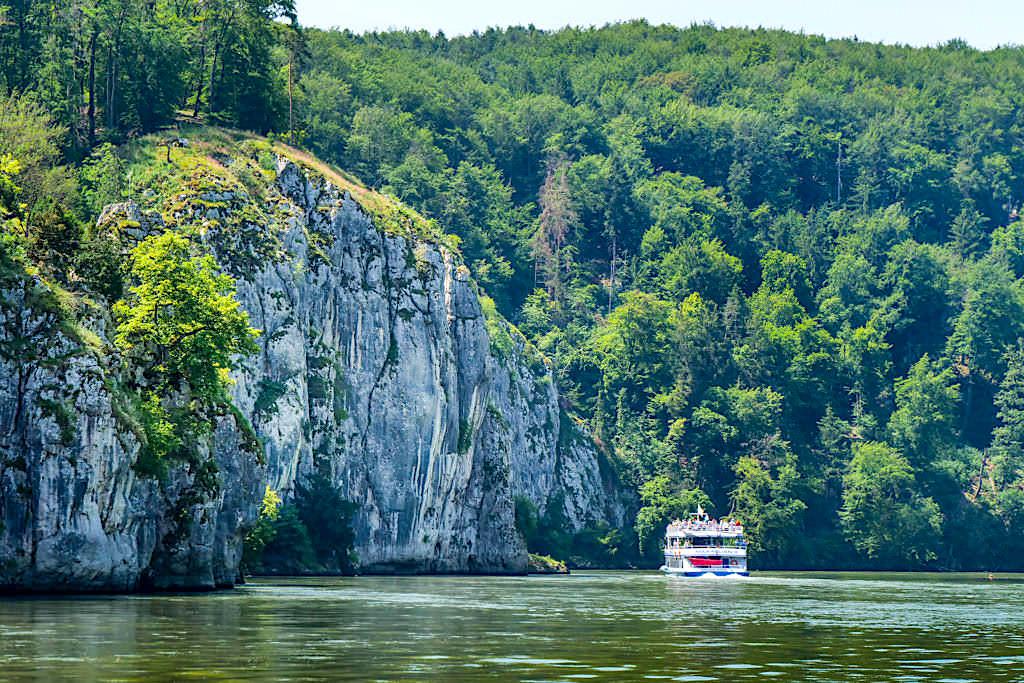Donau Altmühltal Schifffahrt zur Weltenburger Enge und Donaudurchbruch -Bayern