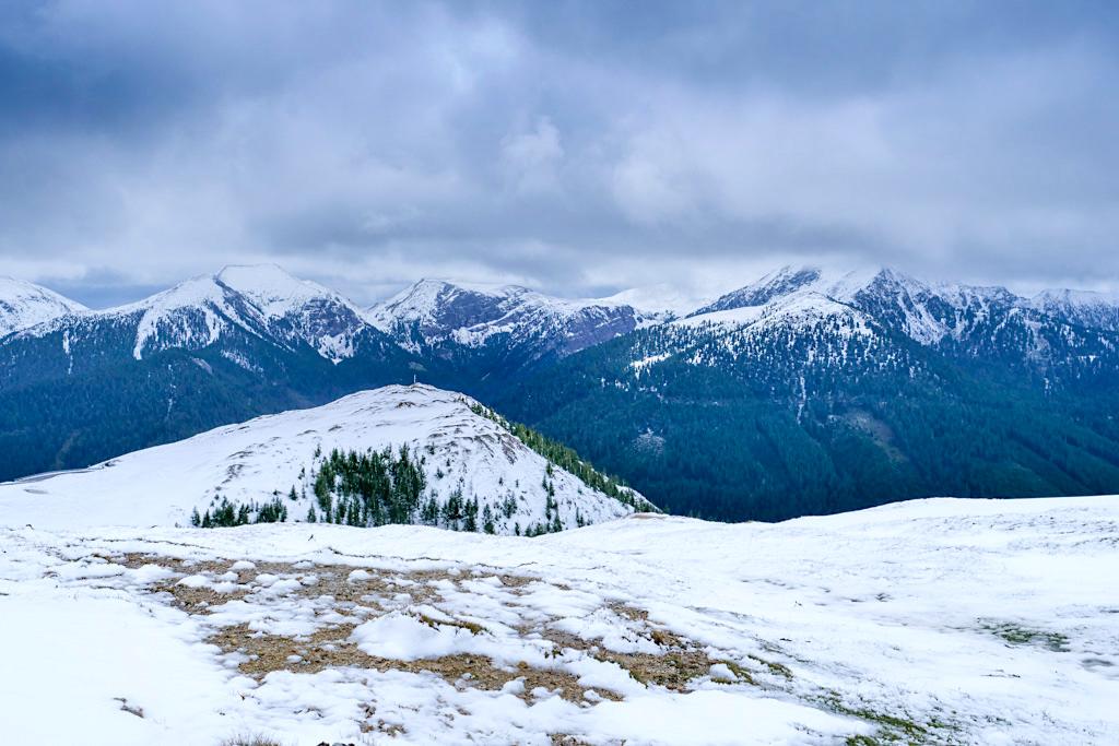 Eisentalhöhe - Grandiose Ausblicke über den Nationalpark Nockberge von dem höchsten Punkt der Nockalmstraße - Kärnten, Österreich