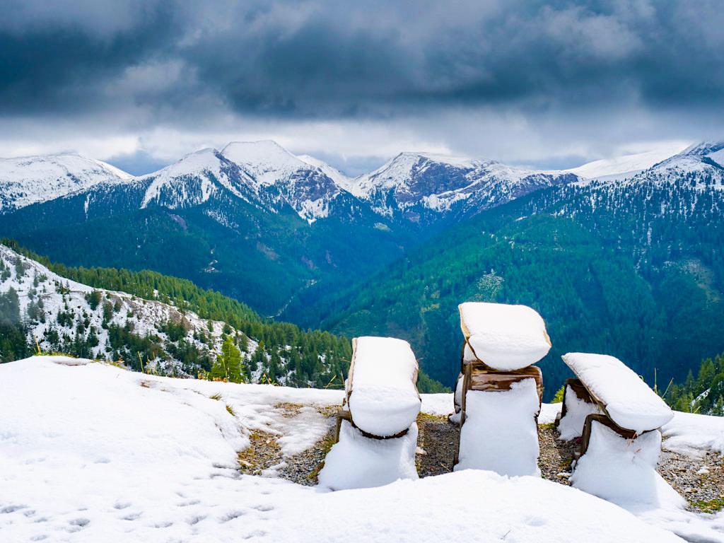 Mein Nockalmstraße Highlight: Einmalig faszinierende Schneelandschaft im Sommer nach einem Wettersturz - Österreich