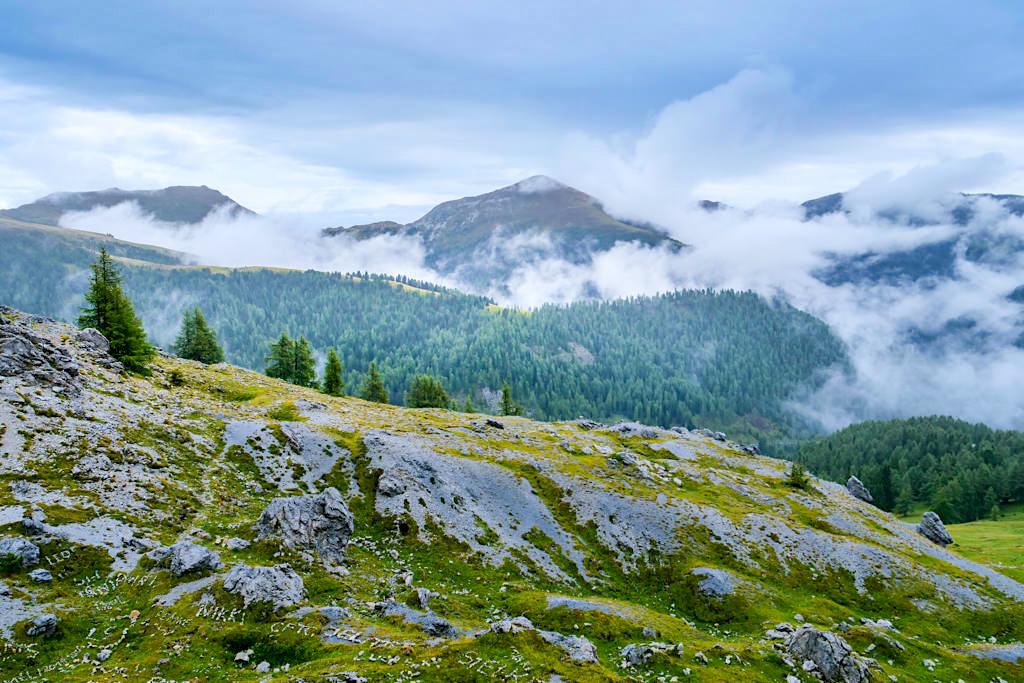 Nockberge sind eine geologische Rarität - Nockalmstraße - Kärnten, Österreich