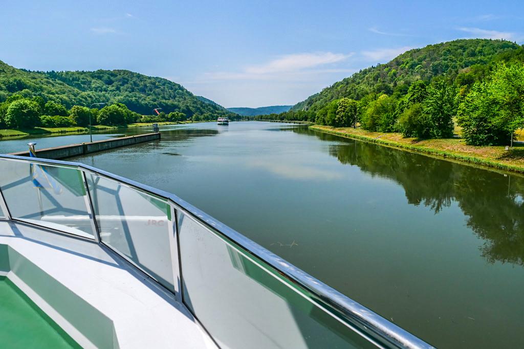 Schleuse Kelheim Main-Donau-Kanal - Altmühltal Schifffahrt - Bayern