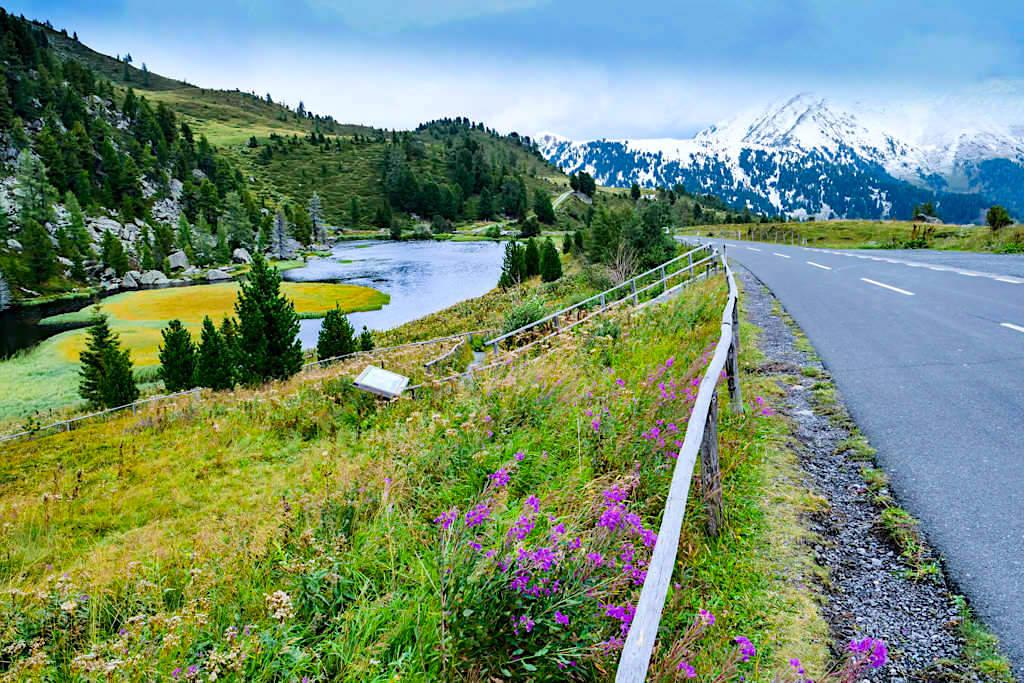 Ausblick auf den Windebensee - Sehenswürdigkeit an der Nockalmstrasse - Kärnten, Österreich