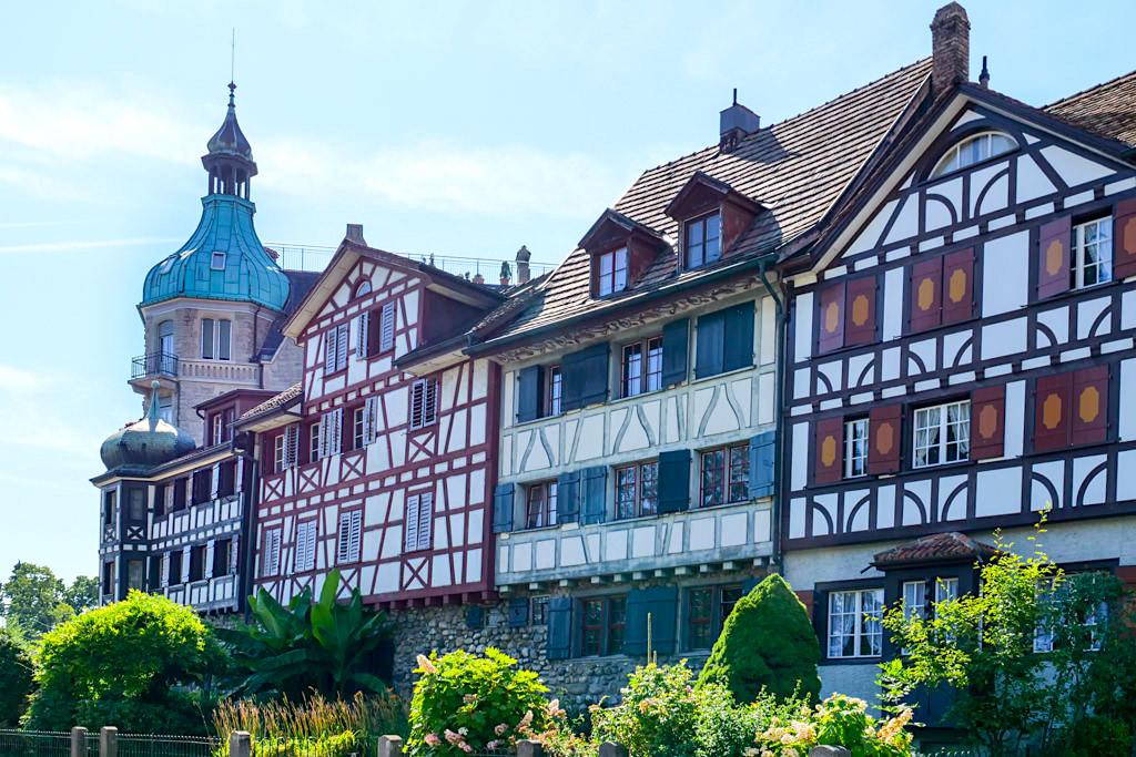 Arbon mit seinen schmucken Fachwerkhäusern & historischen Altstadt - Dreiländer-Bodensee-Schiffsausflug -Schweiz