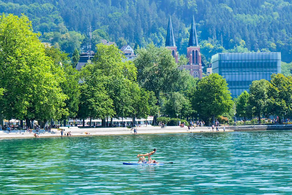 Bregenz - Badefreuden im Bodensee - Dreiländer-Schiffsrundfahrt - Österreich