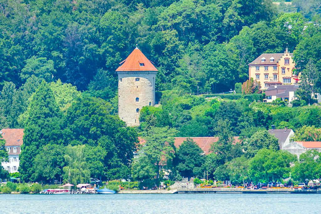 Gallerturm in Überlingen am See - Einer der letzten der ehemals 15 Wehrtürmen - Baden-Württemberg