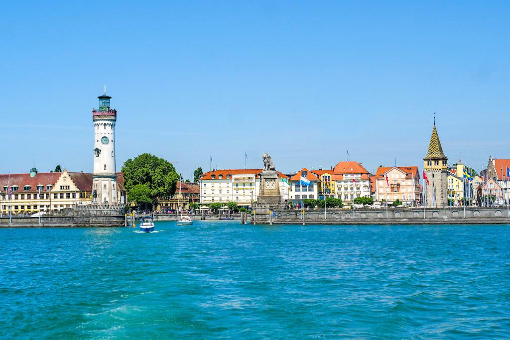 Lindau: der Hafen& die Altstadt der südlichsten Stadt Deutschlands- Dreiländer-Bodensee-Schiffsrundfahrt - Bayern