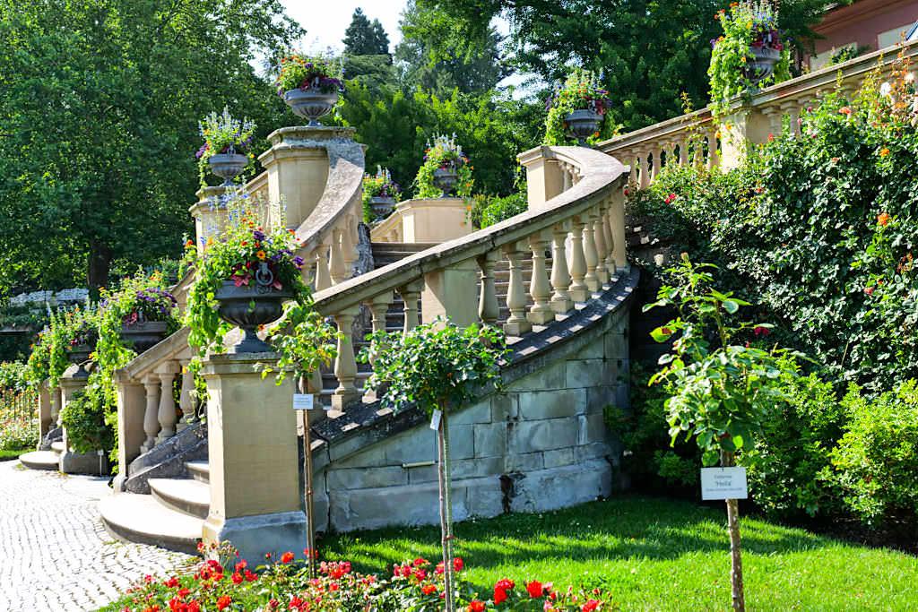 Blumeninsel Mainau - Freitreppe zum schönen Italienischen Rosengarten - Baden-Württemberg
