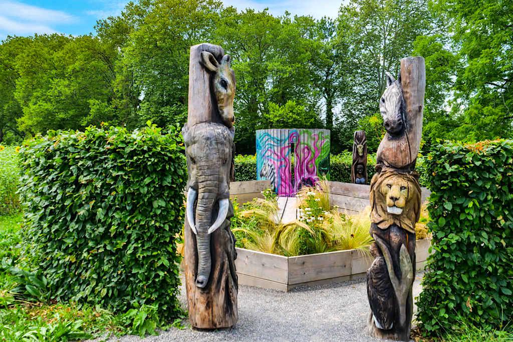 """Saisonale Gärten """"Voodoo"""" - Studentenwettbewerbe der Gartenkunst auf der Insel Mainau - Baden-Württemberg"""