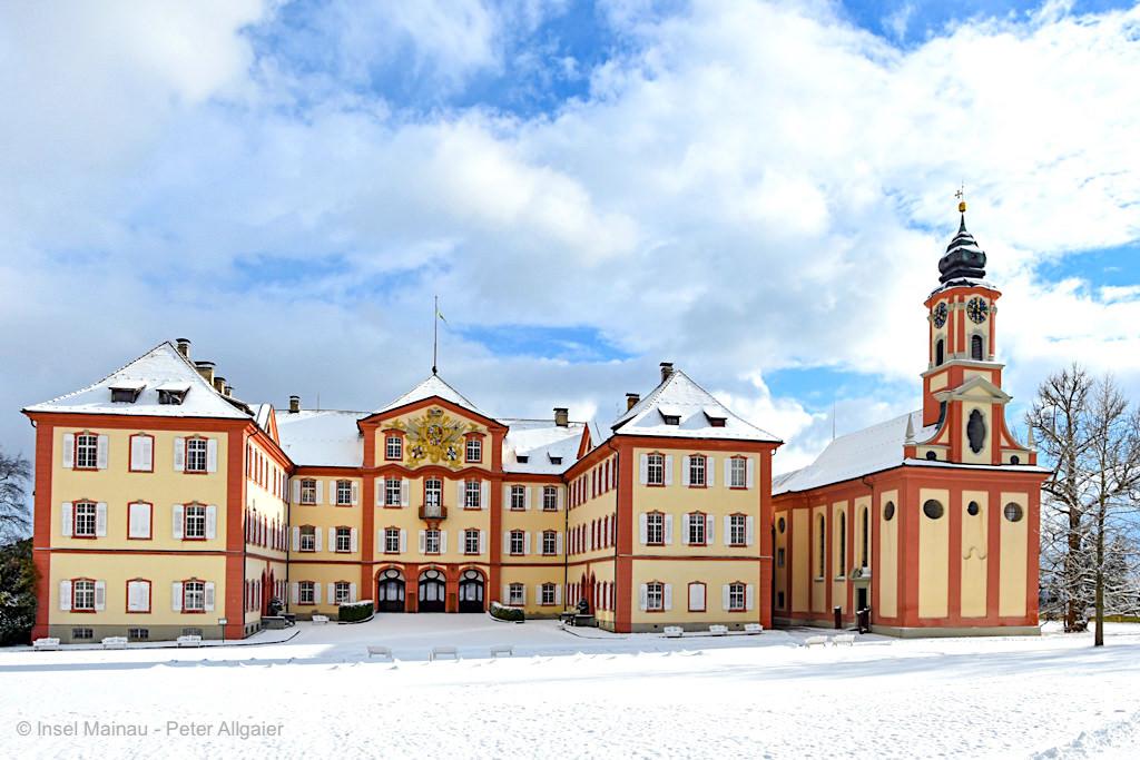Schloss Mainau & Marien Kirche - Insel Mainau im Winter - Baden-Württemberg
