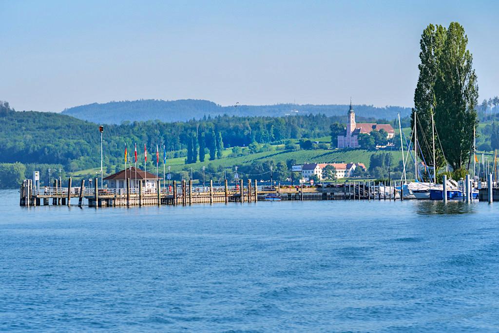 Unteruhldingen - Ausblick Hafen & Kloster Birnau - 3 Länder-Bodensee-Rundfahrt - Baden-Württemberg