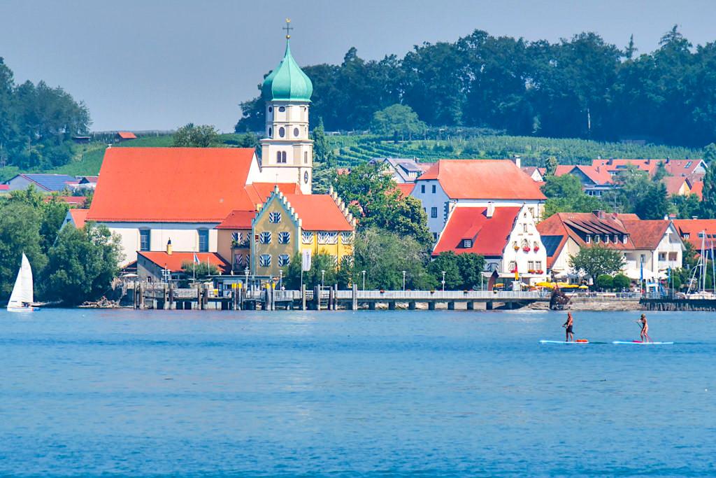 Idyllisches Wasserburg am Bodensee - Dreiländer-Schiffsfahrt von Überlingen aus - Bayern