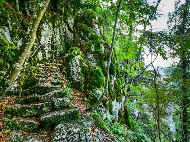 Altmühltal Klamm Wanderung - Von Riedenburg nach Prunn ist eine der schönsten Wanderungen im Altmühltal - Bayern