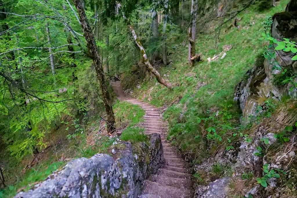 Aufstieg zum oder Abstieg zum Heimgarten Gipfel - Bayern