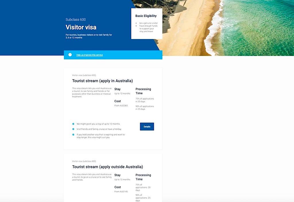 Australien Visum Subclass 600 für bis zu 12 Monate Aufenthalt - Australien Planung & Reisevorbereitungen