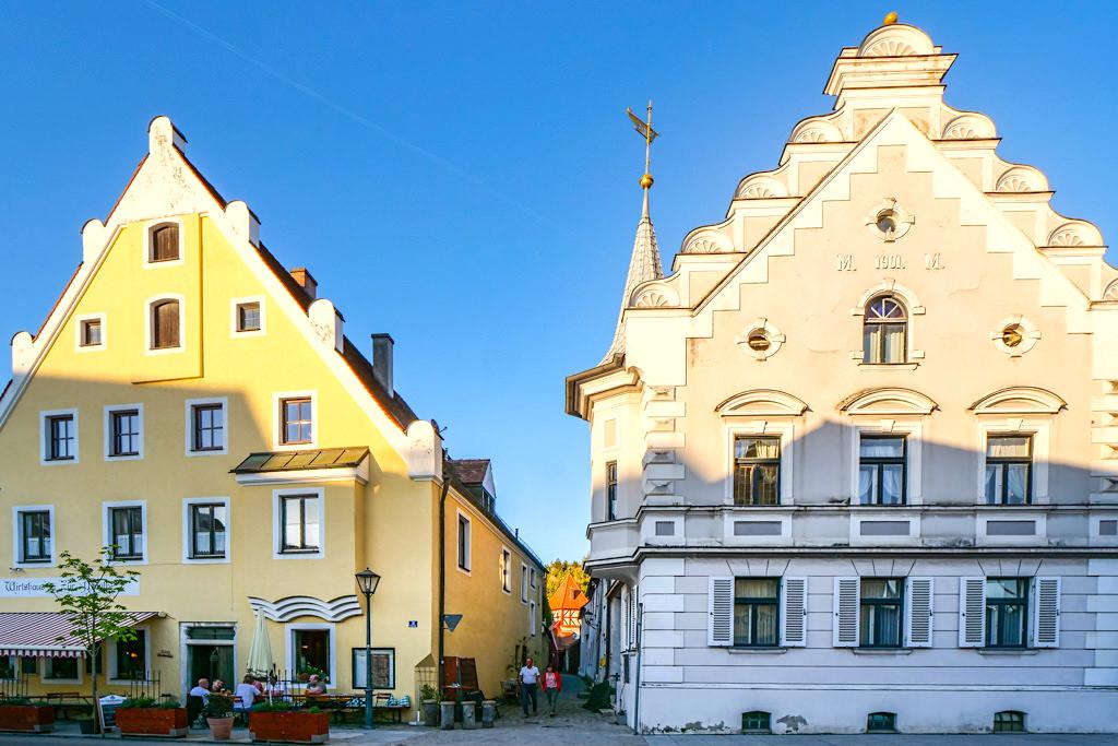 Beilngries - schöne historische Altstadt mit gepflasterten Gässchen verbreiten Mittelalter Charme - Altmühltal - Bayern