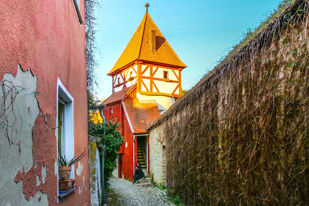 Beilngries - Flurerturm: einer der neun Türme entlang der Stadtmauer - Altmühltal Sehenswürdigkeiten - Bayern