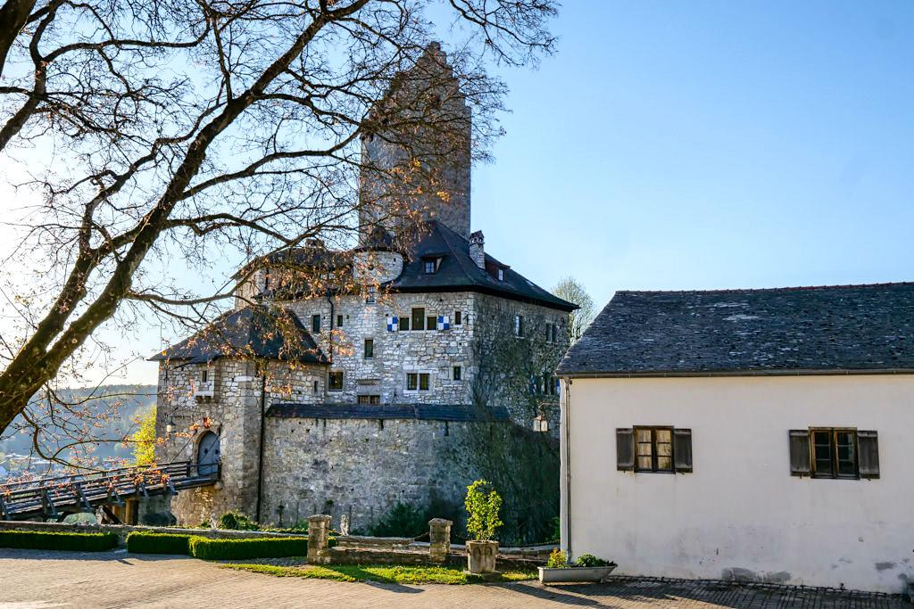 Burg Kipfenberg - Ausblick vom Innenhof der Vorburg - Altmühltal Sehenswürdigkeiten - Bayern