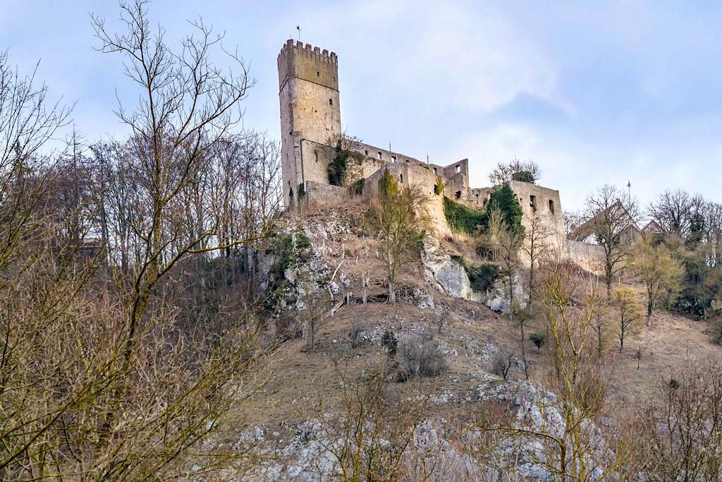 Burg Randeck im Winter - Altmühltal Sehenswürdigkeiten, Geheimtipps & Ausflugsziele - Bayern
