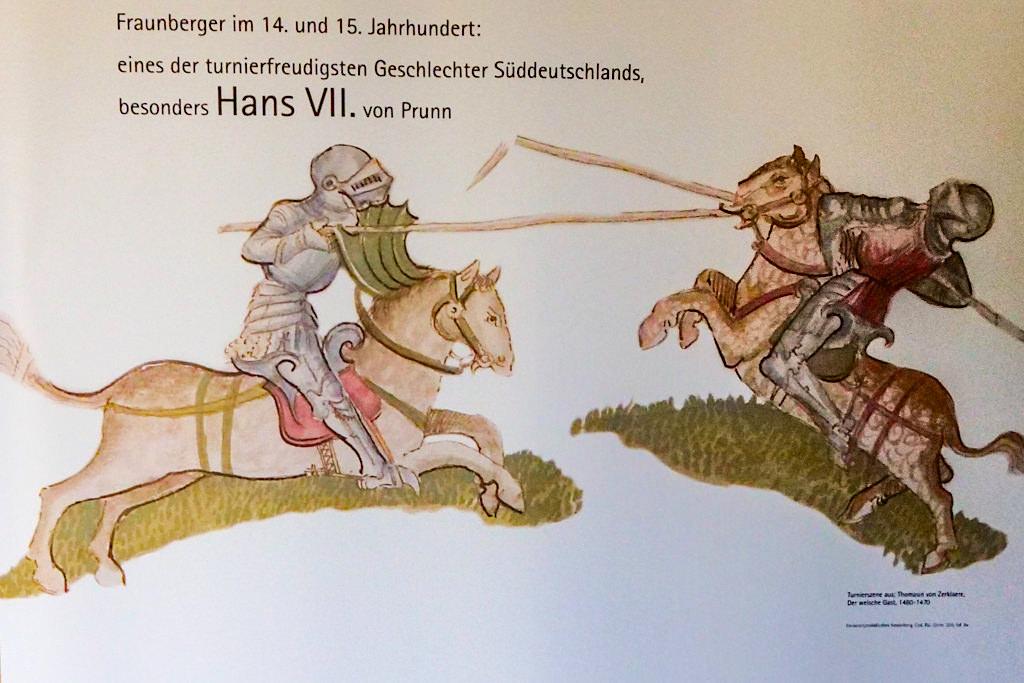 Burg Prunn - Lehensherren von Fraunberger bei den Ritterturnieren - Altmühltal - Bayern