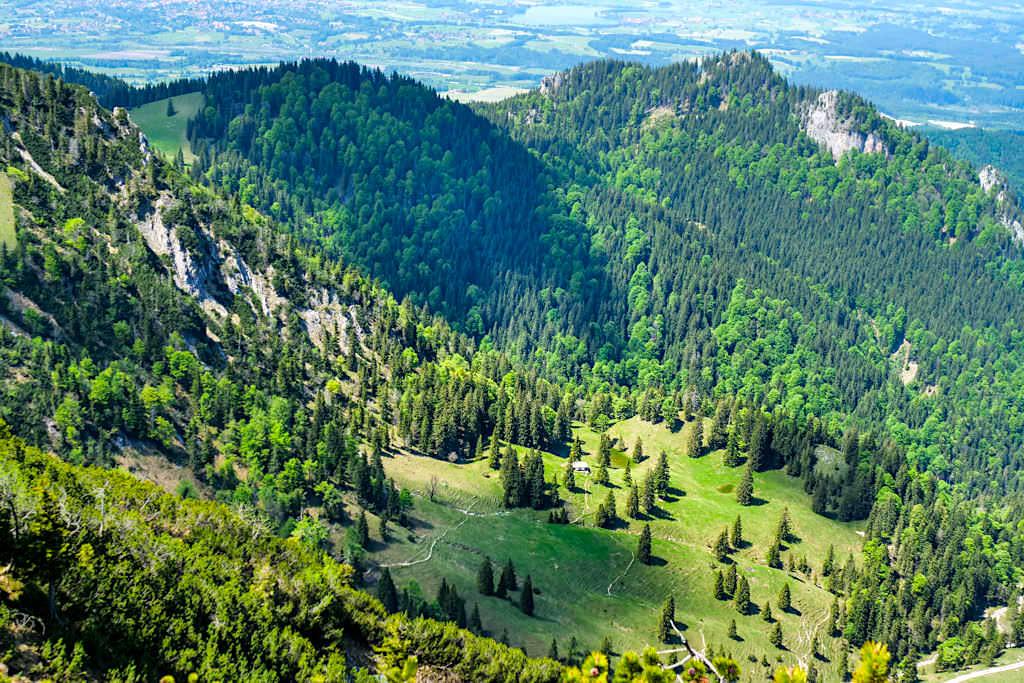 Heimgarten Herzogstand Steig und Kammüberschreitung - Grandiose Ausblicke ins Tal - Walchensee Rundwanderung, Bayern