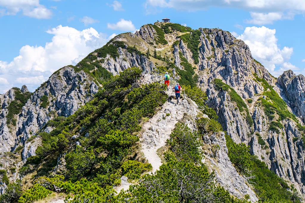 Heimgarten Herzogstand Gratwanderung - nur wenige Wanderer, dafür aber atemberaubende, grandiose Aus- und Tiefblicke - Walchensee, Bayern