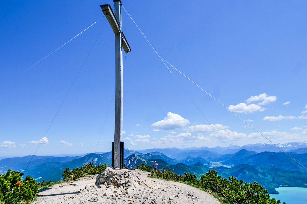 Herzogstand Gipfelkreuz - Schönster Ausblick auf Kochelsee, Walchensee, Tölzer Land & Bayerische Voralpen - Bayern