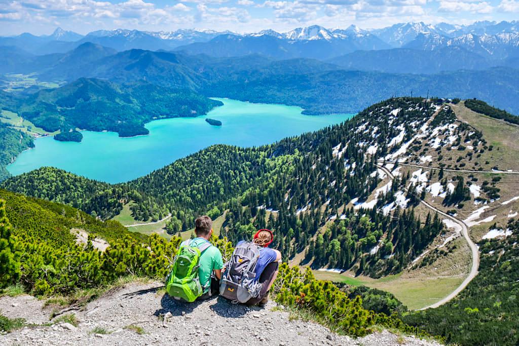 Herzogstand-Gipfel - Grandioser Ausblick auf Walchensee & Bayerische Voralpen - Rundwanderung Herzogstand Heimgarten - Bayern