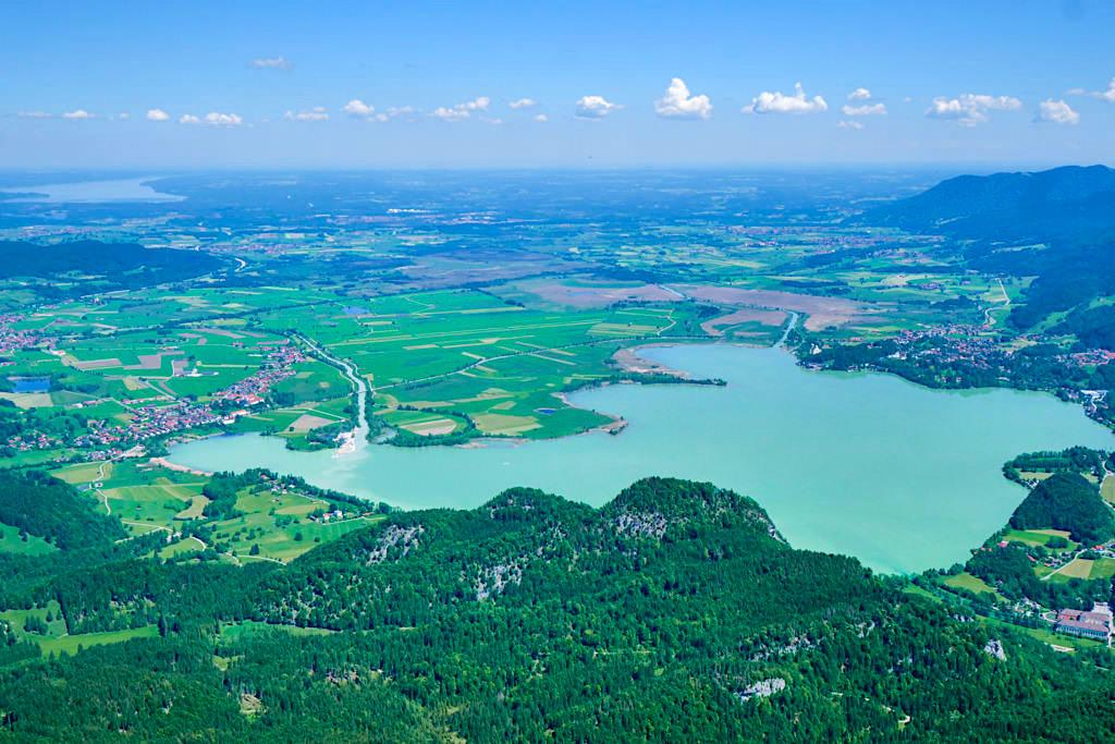 Herzogstand-Gipfel - Sensationeller Ausblick über den Kochelsee, Staffelsee, Riedsee, Starnberger See - Rundwanderung & Überschreitung Herzogstand Heimgarten - Bayern