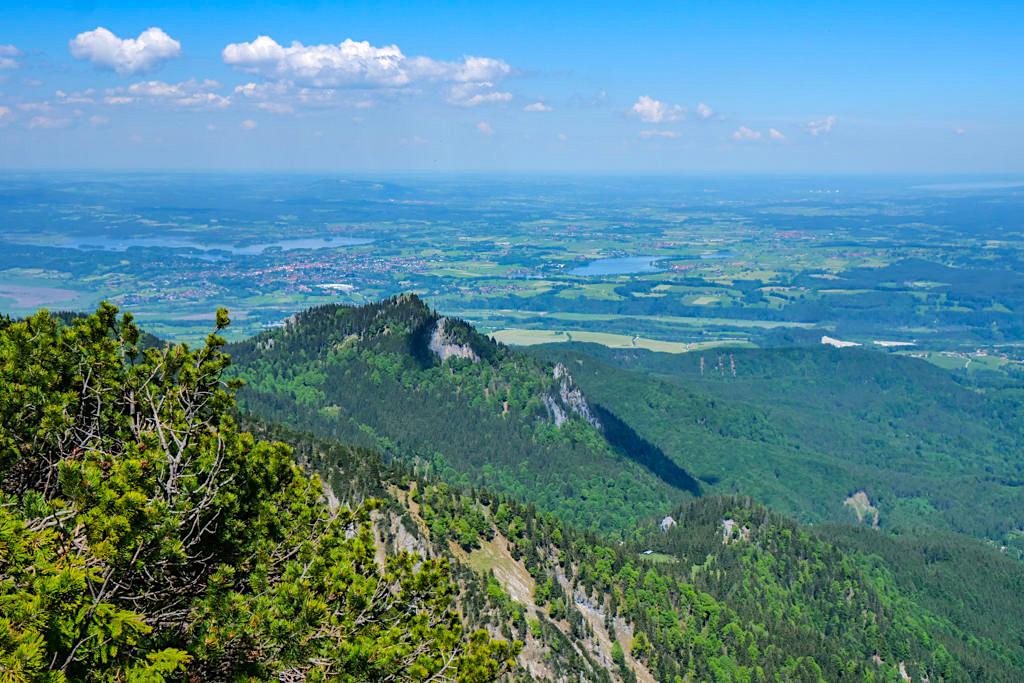 Ausblicke vom Herzogstandgipfel - Staffelsee, Riegsee, Starnberger See & Hohenpeißenberg - Rundwanderung Herzogstand Heimgarten - Bayern