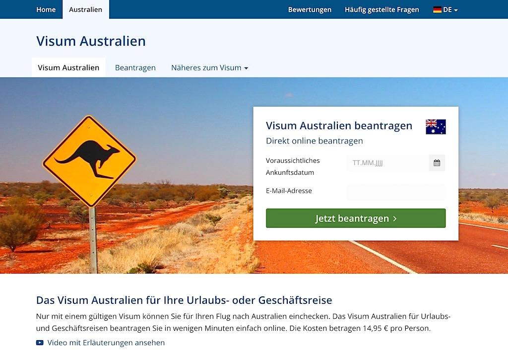 VisumAntrag.de für Australisches Besucher- & TouristenVisum - Australien Planung und Reise