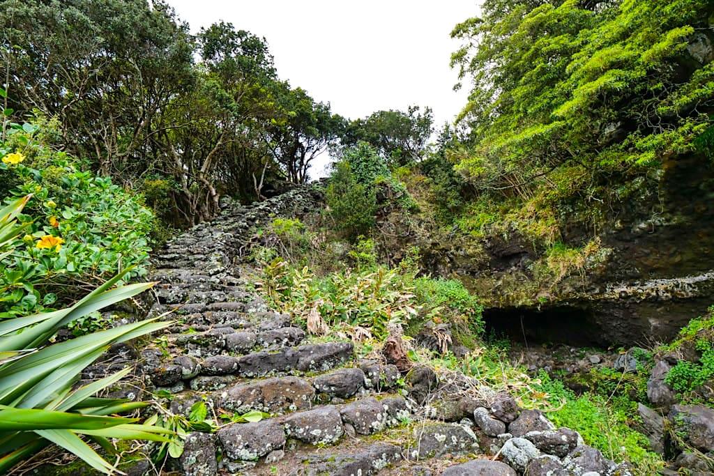 Porto da Prainha do Galeao - Alter Pfad der schon von Walfängern benutzt wurde - Insel Pico, Azoren