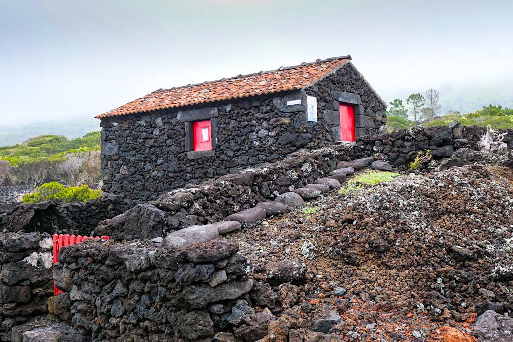 Sao Mateus - Wunderschöne, liebevoll restaurierte Adegas entlang der küstennahen Weinhängen - Insel Pico Sehenswürdigkeiten - Azoren