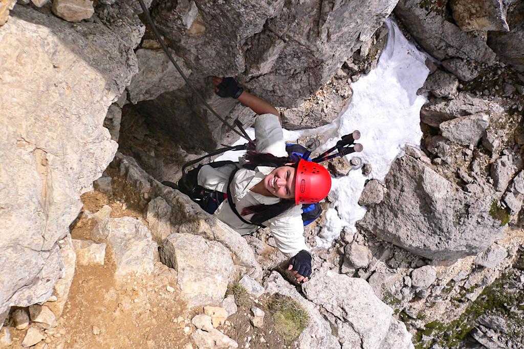 Klettersteig in der Sella - Dolomiten, Südtirol