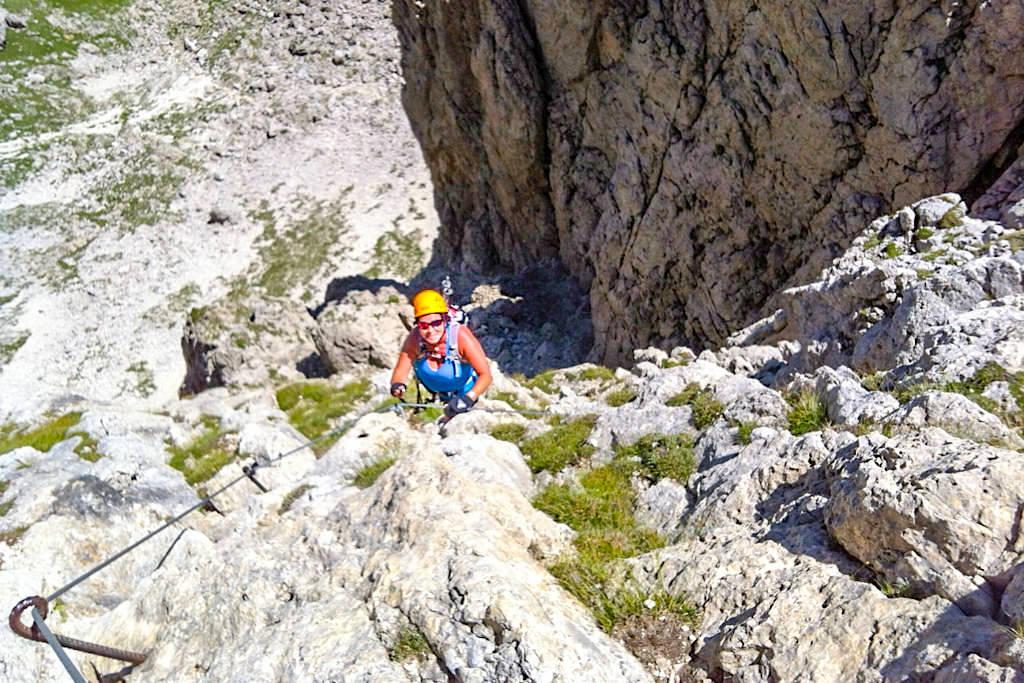 Pisciadu Klettersteig ist einer der schönsten und beliebtesten Klettersteige in der Sellagruppe und in den Dolomiten - Südtirol