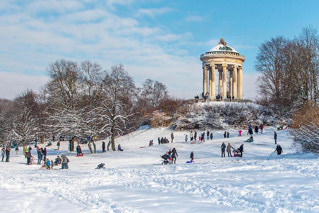Englischer Garten im Schnee - Wintererlebnis München - Bayern