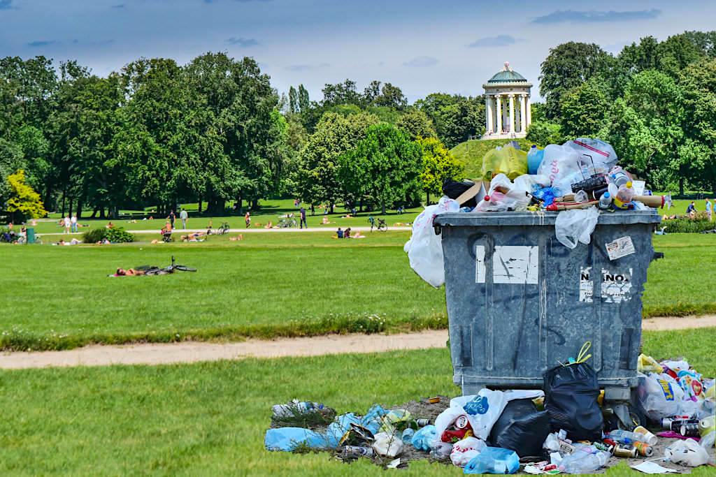 Müllproblem im Englischen Garten - München - Bayern