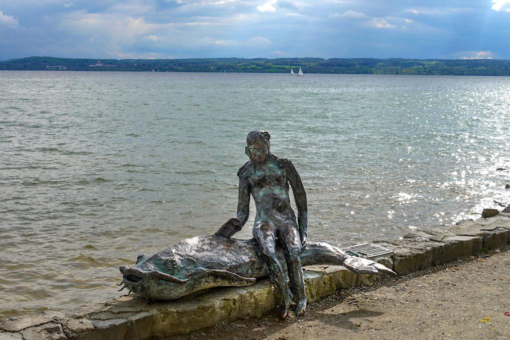 Herrsching am Ammersee - Skulptur an der Uferpromenade - Bayern