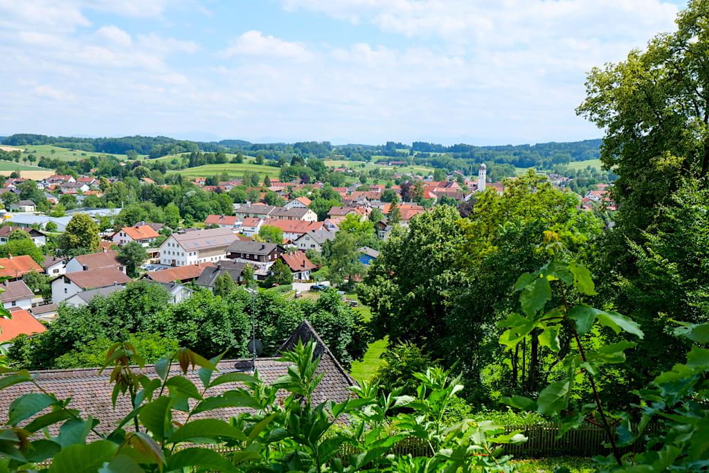 Grandioser Ausblick auf Andechs und Umgebung vom Kloster Andechs - Bayern