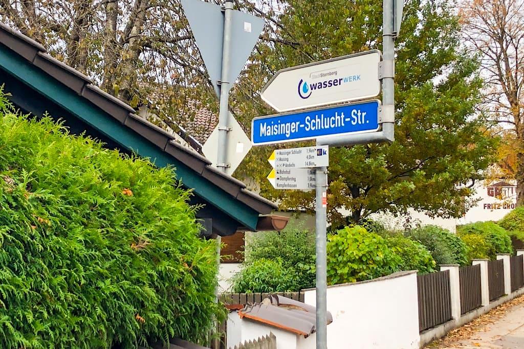 Maisinger Schlucht . Wanderung vom Starnberger See zum Ammersee - Bayern