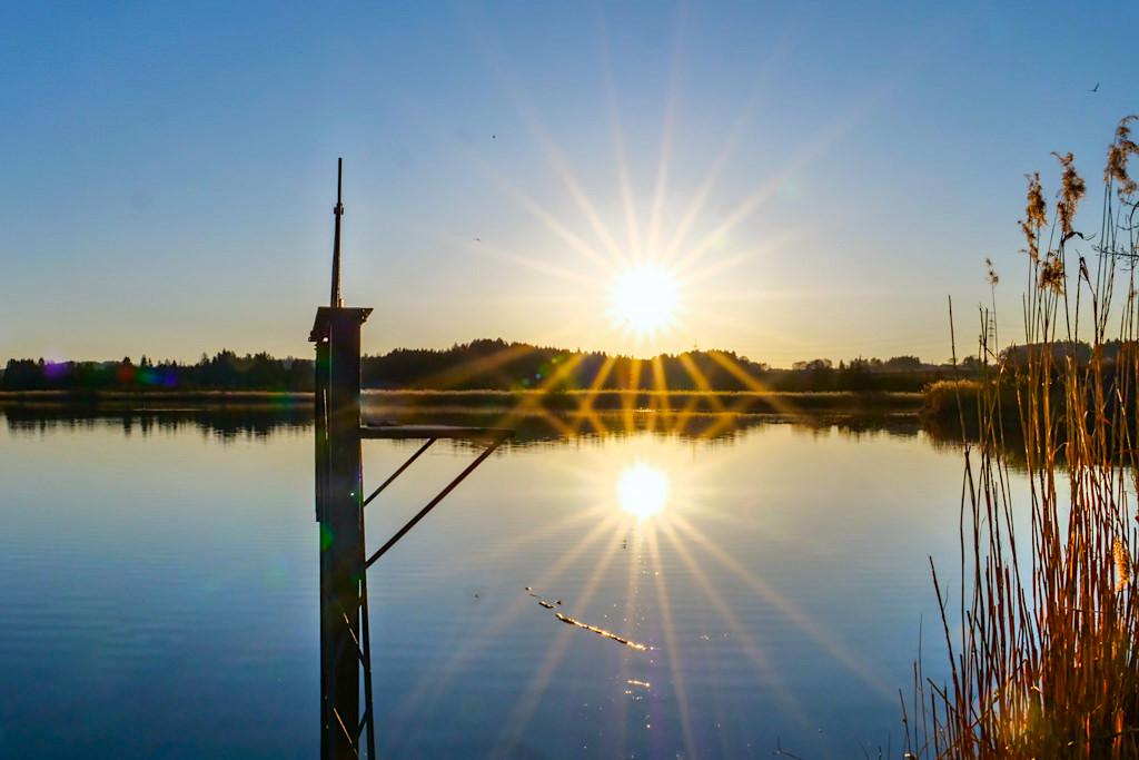 Maisinger See bei Sonnenuntergang - Bayern