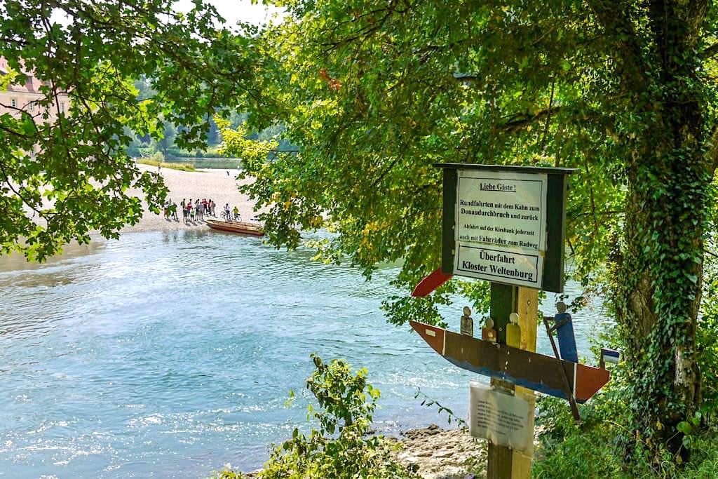 Zillen Überfahrt über die Donau beim Kloster Weltenburg - Bayern