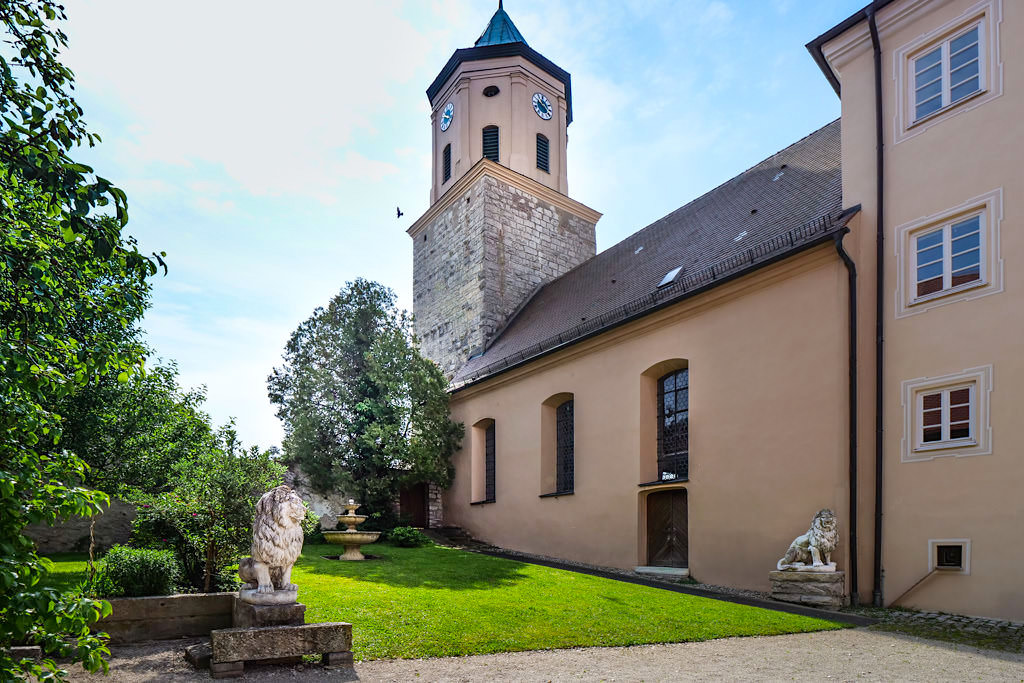 Schloss Gosheim Innenhof - Donau-Ries, Bayern