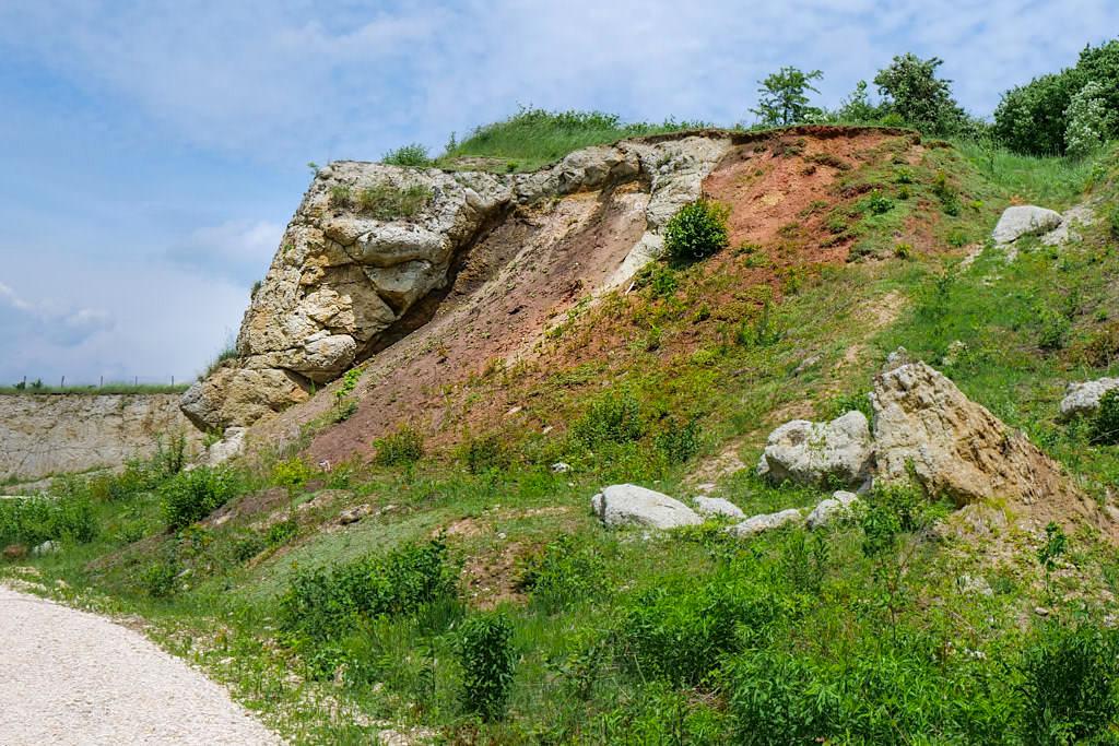 Suevit-Steinbruch Aumühle - Ries-Ereignis: Suevit & Bunte Breccie - Donau-Reis, Bayern