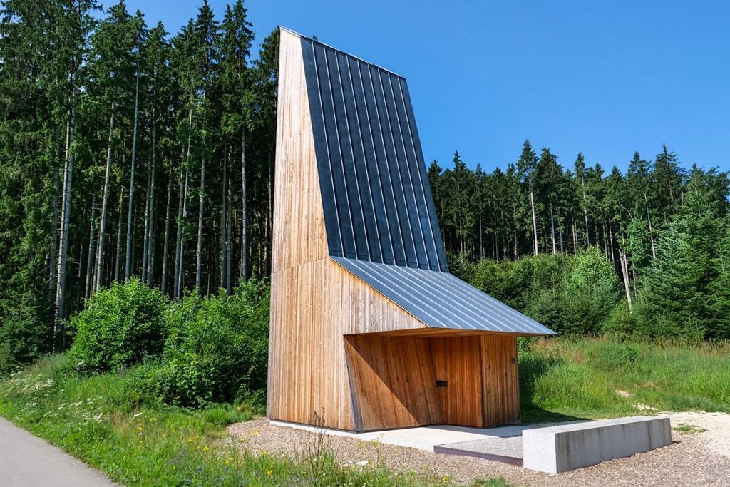Kapelle Emersacker oder Blaue Kapelle Laugnatal von Wilhelm Huber - Sehenswürdigkeit 7 Kapellen im Dillinger Land, Bayern