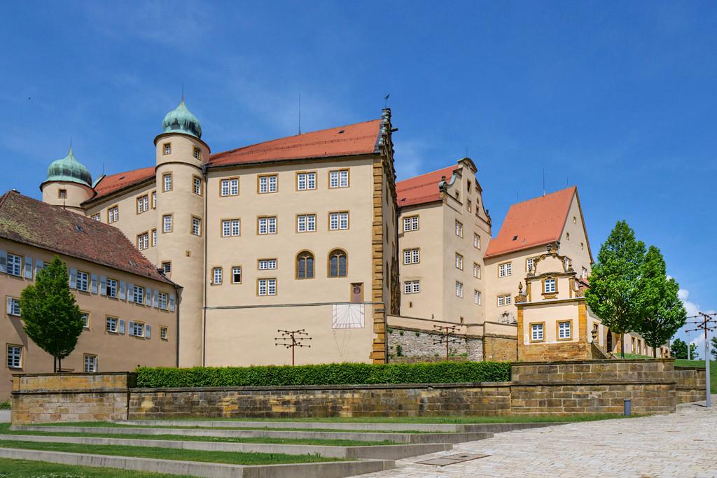 Schloss Kapfenburg - Terrassengarten wird für Open-Air-Konzerte genutzt - Schönste Burgen & Schlösser im Ferienland Donau-Ries & Schwäbische Alb, Baden-Württemberg