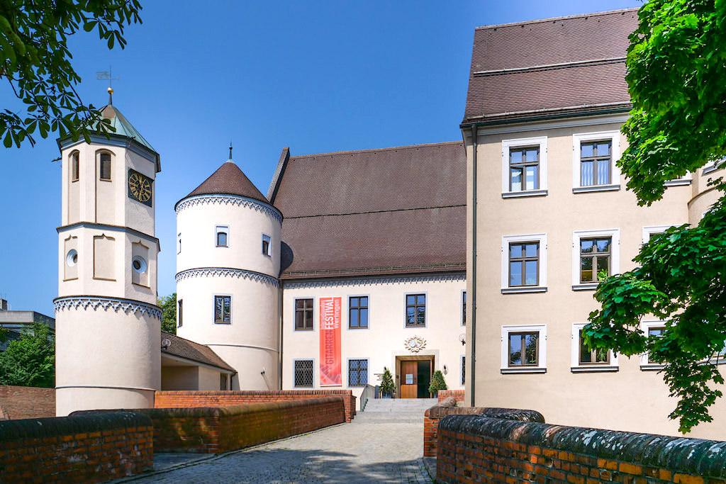 Ehemaliges Schloss Wertingen - Sehenswürdigkeiten auf dem 7 Kapellen Radweg - Dillinger Land, Bayern